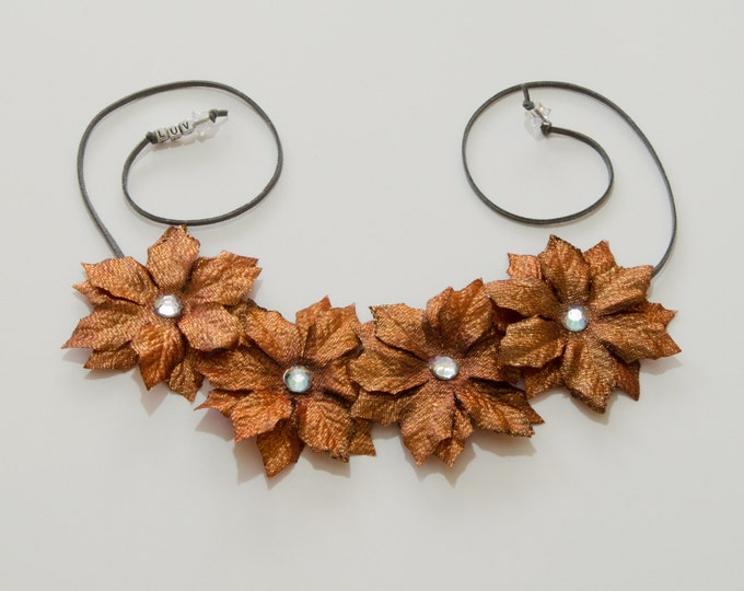 Copper Poinsettia Flower Crown