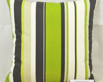 "Prestigious Henley Kiwi Stripe CUSHION COVER 17""x17"" 43cm sq 100% Cotton"