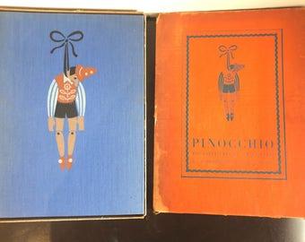 Vintage Pinocchio C. Collodi Richard Floethe Heritage Press hardcover book with slipcase 1937