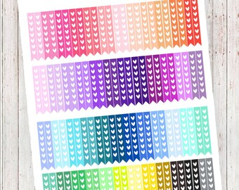 Rainbow Heart Checklists | Planner Printables | MAMBI HP, ECLP, and More!