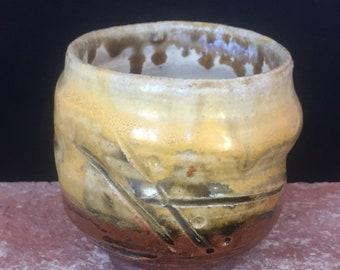 Ceramic Wine Glass-013-Free Shipping-Drinking Vessel-Ceramic Sake Cup, Ceramic Whiskey Cup, Handmade, Stemless Wine Glass, organic feel