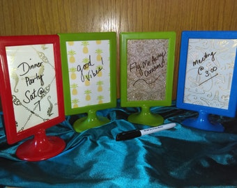 Dry Erase mini boards plus marker, party decorations, message board