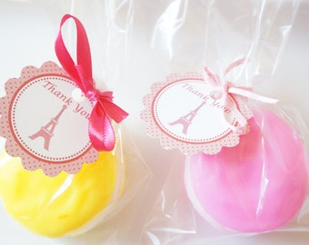 10 FRENCH MACAROON Soap Favors- Macaron Soap Favor, Baby Shower, Wedding, Bridal Shower, French / Paris Birthday,