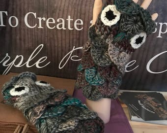 Fingerless Owl Mittens