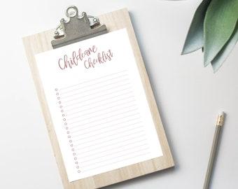 Childcare Checklist Childcare To Do List