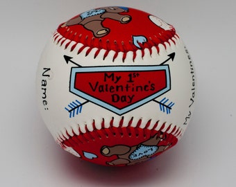 Babys First Valentine Baseball, Valentine Baseball, Baby Gift, Valentine Baseball, Valentine Gift (BBV)