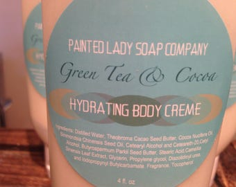 Green Tea and Cocoa Hydrating Body Creme