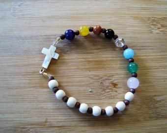 Stretchy Psalm 23 Bracelet L