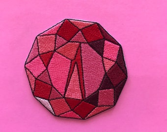 Red jewel patch