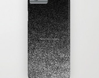 Silver and Black Glit Gradient Phone Case 18 Styles Available! - iPhone, iPod, and Samsung Galaxy!