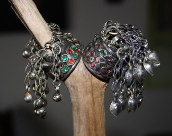 Kuchi Tribal Ring Dangly bells and chains Ring Gypsy Belly Dancer Tribal Kuchi Ring Statement Ring