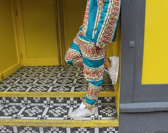 Mens Trousers African - African Print Pants - Hareem Pants - Tribal Trousers - Dashiki - Festival Clothing -Tribal Pants - Festival Trousers