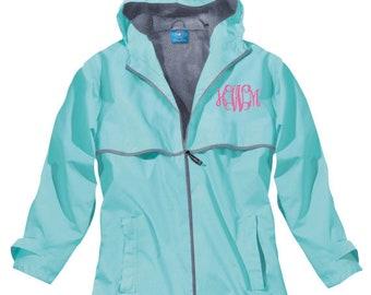 Monogrammed Charles River Rain Jacket - Monogrammed Rain Coat - Monogrammed Rain Jacket - Monogrammed Jacket