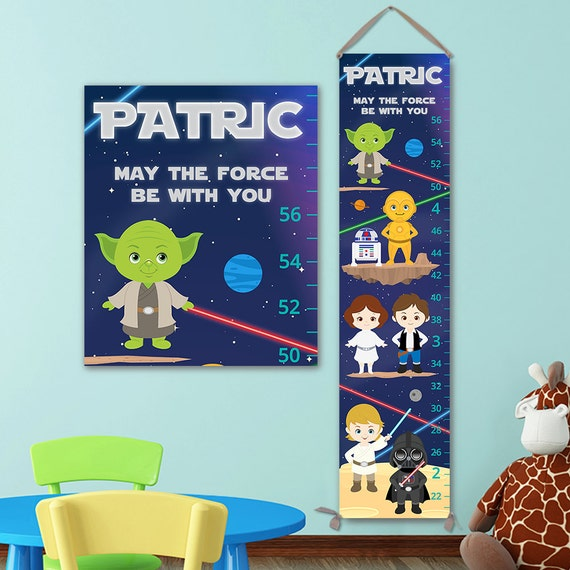 Star Wars Growth Chart -  Star Wars Kids Art, Star Wars Nursery, Star Wars Wall Art - GC5002S
