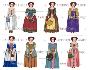 Printable Clipart– English Colonial