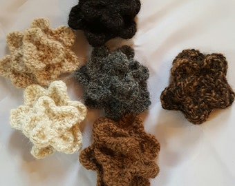 Handmade Alpaca yarn rose pin