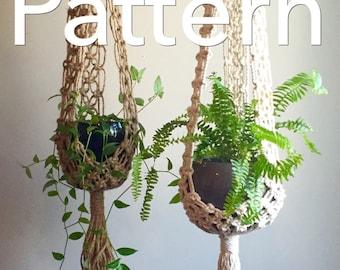 STELLA Macramé Pattern INTERMEDIATE//Plant Hangerpdf DIY Tutorial Instructions Macrame Fiber Arts Pattern Only Instant Download