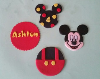 12 edible mickey mouse cupcake toppers