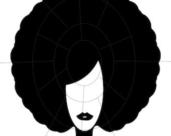 African American Afro - SVG Instant Digital Download