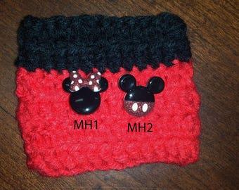 Mickey and Minnie Cozies, cozy sleeve, cozy, minnie mouse, mickey mouse, disney, tea cozy