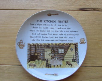 The Kitchen Prayer Collectable Plate Log Cabin Decor