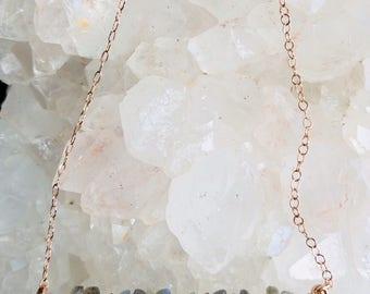 Labradorite Necklace | Collar Necklace | Rustic, Delicate| 14k Gold Fill, Rose Gold Fill, Argentium Silver |