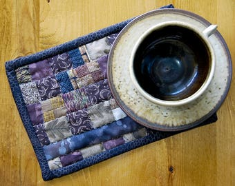 Brown Patchwork Mug Rug