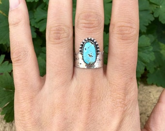 Size 7 Blue Moon Rising Turquoise Ring