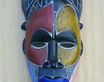 Sirikwa wooden mask,Traditional mask,kenya wooden mask, Antique mask, Old traditional mask, Africa wooden mask, wooden mask