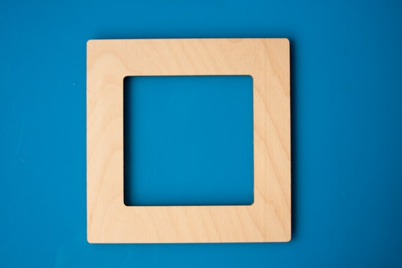 Square Magnetic Wood 4x4 Photo Frame Display Instagram