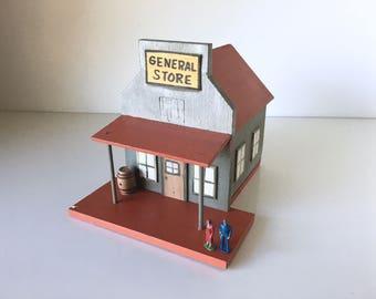 Vintage Primitive Handmade Wood Building General Store