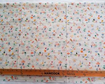 Vintage Alphabet Fabric for Children/Babies