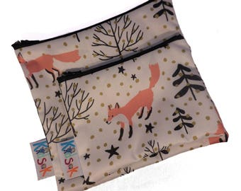 Fox Reusable Snack Bag - Small