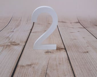 1 Sign Photo Prop for First Birthday Photo Shoot for Babies and Kids - Wooden Number Sign Photographer, Number Sign