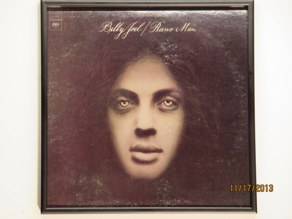 Glittered Record Album - Billy Joel - Piano Man