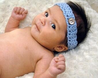 Monogram Baby Headband by BoyBandz / Personalized Baby Crochet Headband / Newborn Headband / Boy Headband / Monogrammed Baby Gift