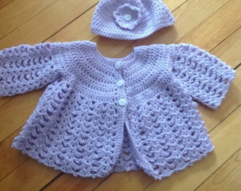 Baby Girl Lac  Crochet Set
