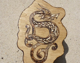 Available: box asymmetrical Celtic dragon round