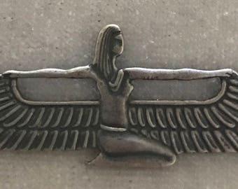 Sterling Goddess Isis Pendant Neckace