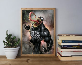 Venom - Art Print - Comic Book Inspired Poster - (Available in Many Sizes)