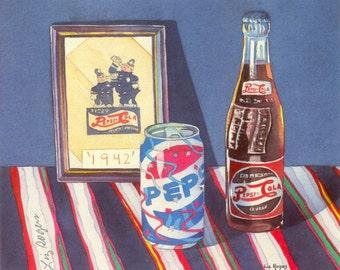 Enjoy Pepsi - Pepsi Theme Art Print Pepsi Theme Art Pepsi Print