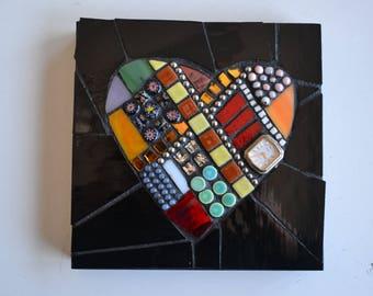 Heart Mixed Media Mosaic