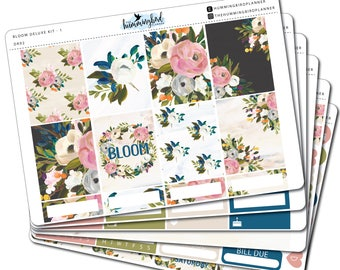 Bloom Deluxe Kit | DK02 | Planner Stickers for Erin Condren Vertical Planners - Physical Item | The Hummingbird Planner