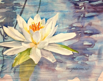 Water Lilly Original Watercolor