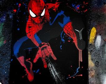 Spider man. Spray Paint Art.