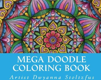Mega Doodle Coloring Book PDF - 61 Coloring Pages