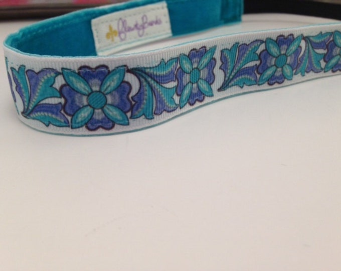 Nonslip Headband; Blue Garden