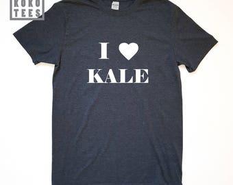 I love KALE T-Shirt, Mens Funny Tshirt