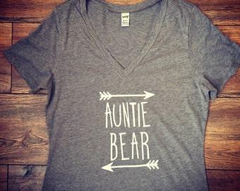 auntie bear shirt|aunt gift|tshirt