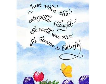 Caterpillar 11 x 14 matted print